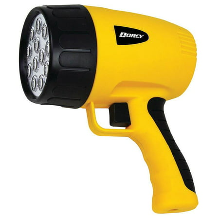 1911 Handgun Grips - Dorcy 41-1050 Rechargeable Pistol Grip LED Spotlight with AC and DC Adaptor, Yellow Finish