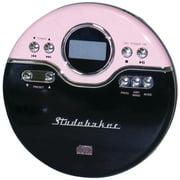 Studebaker Sb3703pb Personal Jogging Cd Player With Fm Pll Radio (pink/black)