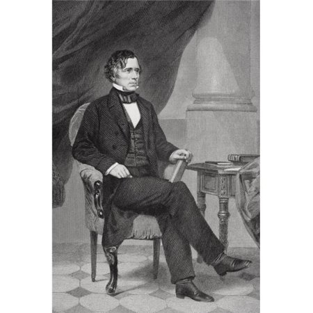 Posterazzi DPI1857751LARGE Franklin Pierce 1804 To 1869 14th President of The United States 1853 To 1857 From Painting by Alonzo Chappel Poster Print, Large - 34 x 24 - image 1 de 1