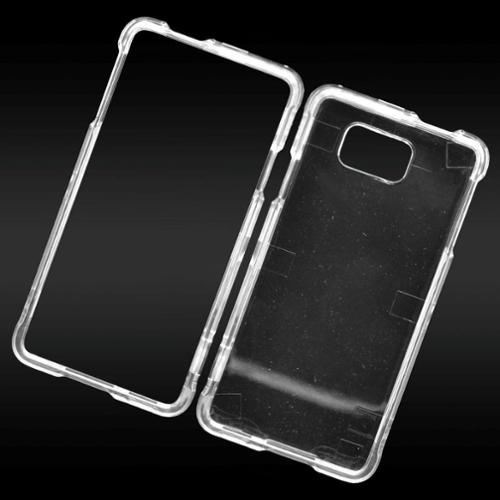 Insten Hard Crystal Cover Case For Samsung Galaxy Alpha - Clear
