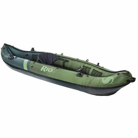 Sevylor Rio Fish/Hunt 1-Person Inflatable Kayak - Green