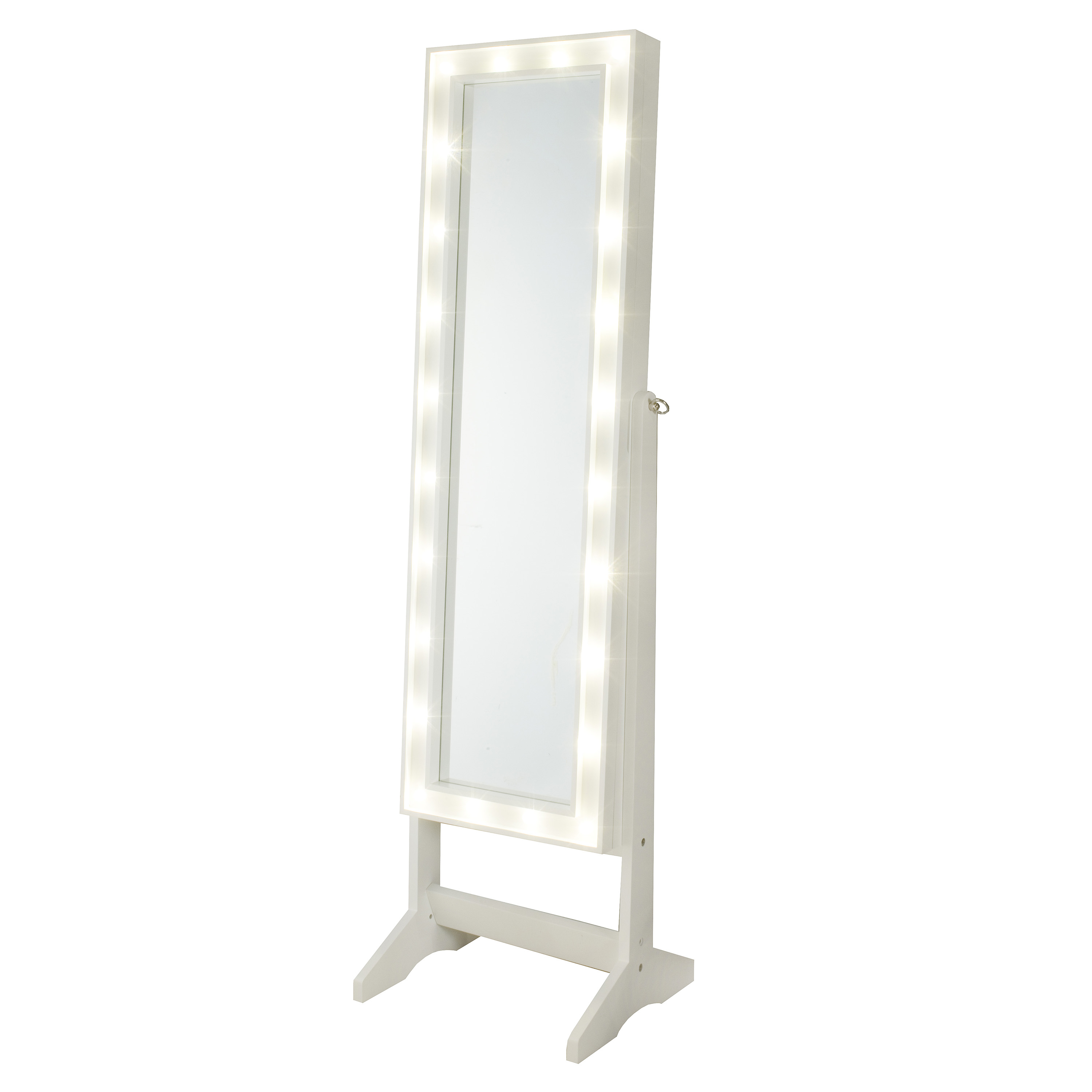 InnerSpace Cheval Mirror Jewelry Armoire with LED Lights by InnerSpace Luxury Products