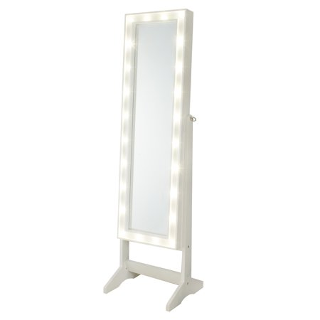 FirsTime & Co. Cheval Mirror Jewelry Armoire with LED Lights