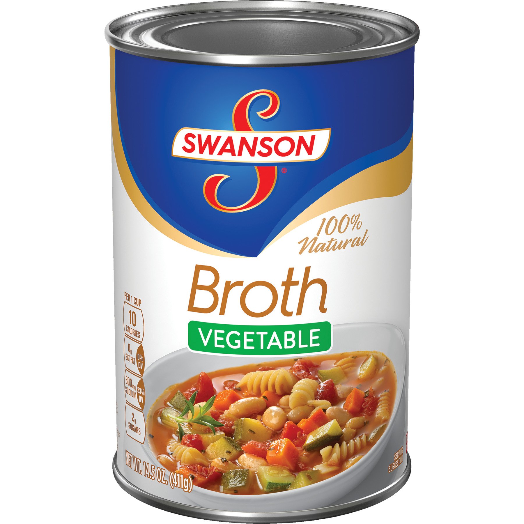 Swanson Vegetable Broth, 14.5 oz Can (8 Packs)