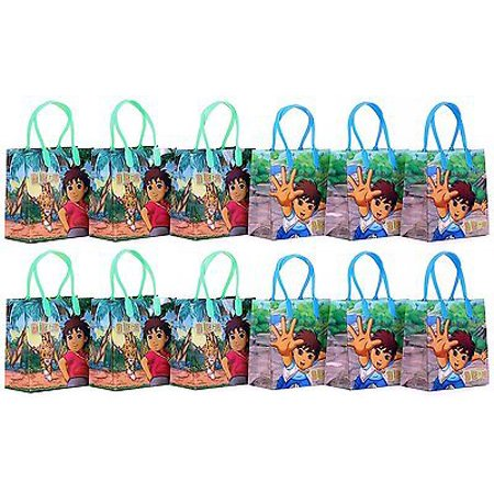 12PCS Go, Diego, Go! Goodie Party Favor Gift Birthday Loot Bags Licensed NEW](Diego Birthday Party)