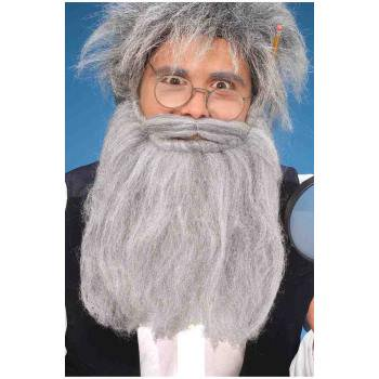 14 Inch Grey Beard And Moustache Halloween Costume - Goatee Beard Without Moustache