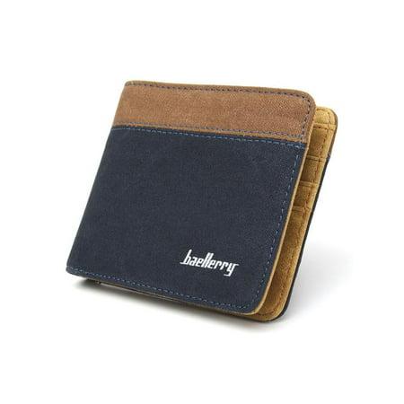 Mens Wallet Slim Front Pocket Wallet Billfold Purse RFID Blocking with 3* card slots,2*receipt position, 2* money position, 1* ID windows.,Grey color - Front Pocket Billfold
