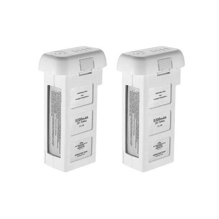Powerextra 2-Pack 11.1V 5200mAh LiPo Intelligent Replacement Battery for DJI Phantom 2, Phantom 2 Vision and Phantom 2 Vision Plus
