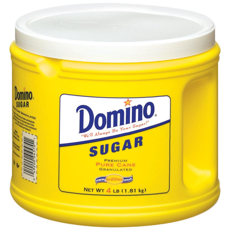 (4 Pack) Domino: Pure Cane Granulated Sugar, 4 Lb