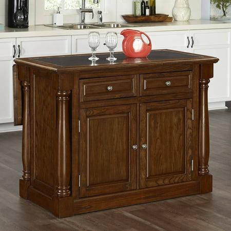Home Styles Monarch Oak Kitchen Island with Granite Top