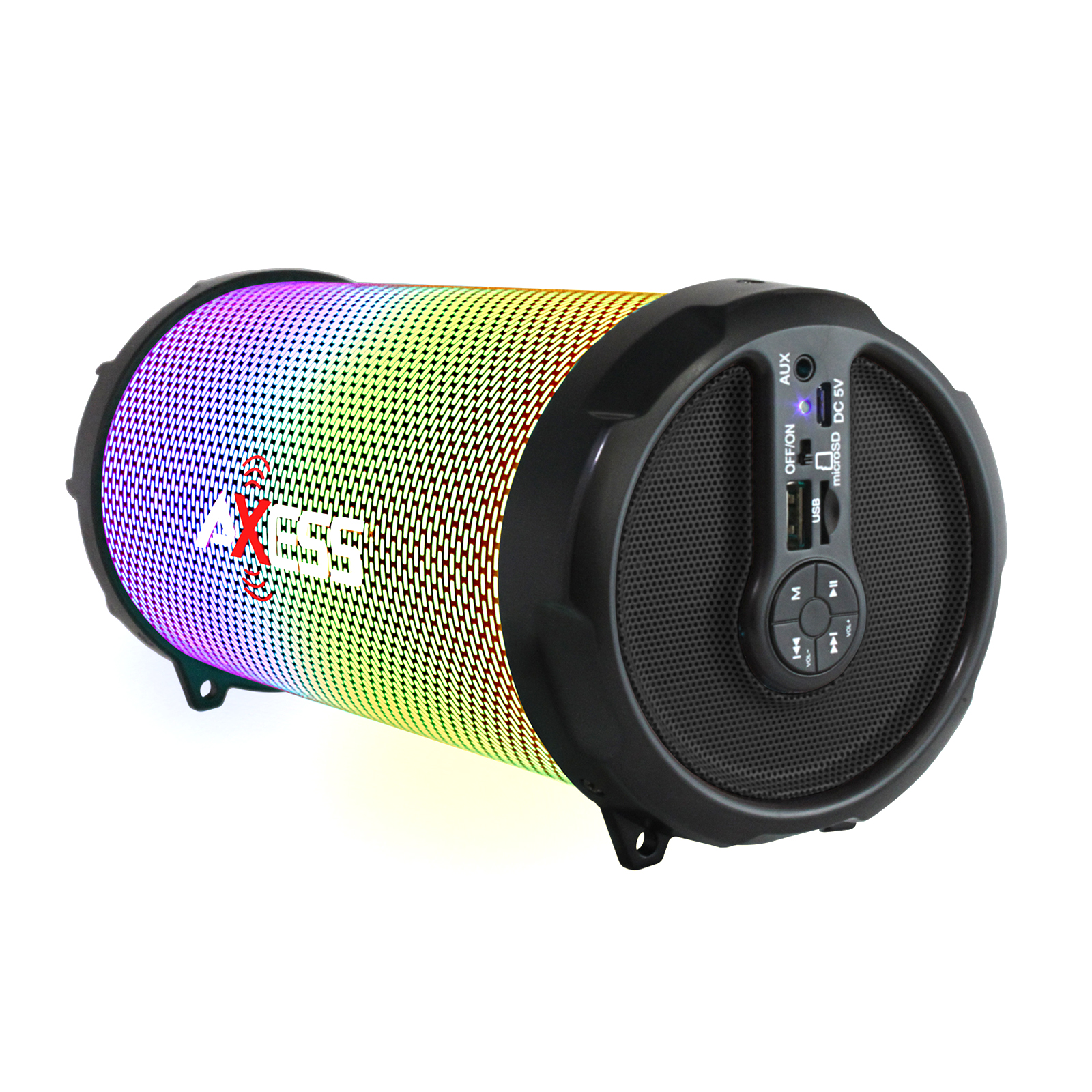 Axess LED BT Media Speaker In Black