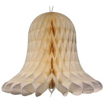 3-pack 11 Inch Hanging Honeycomb Tissue Paper Bell Decoration, Ivory, by Devra Party](Honeycomb Tissue Decorations)