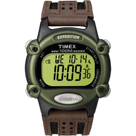 Men's Expedition Digital CAT Watch, Brown Nylon/Leather Strap ()