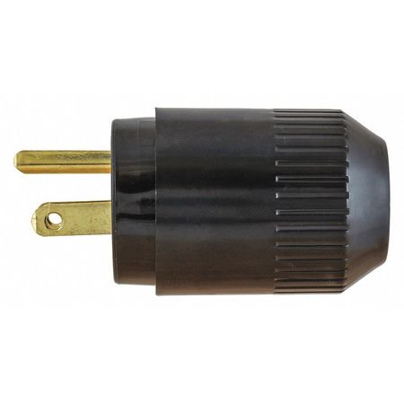 Hubbell Blade - HUBBELL WIRING DEVICE-KELLEMS Blade Plug,Blk,0.245