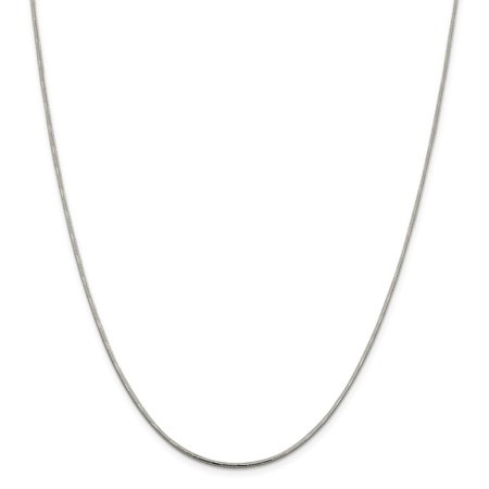 (Sterling Silver Sparkle-Cut Round Snake Chain Necklace - Length: 16 to 20)