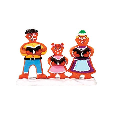 2.25 x 3.18 x 1 in. Gingerbread Carolers Porcelain Village Accessory  Multicolored - Resin