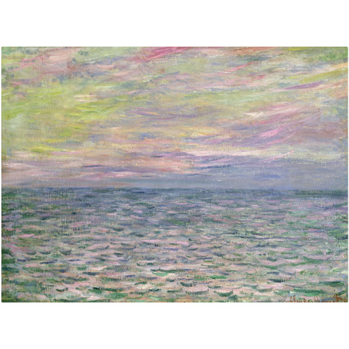 "Trademark Fine Art ""Coucher de Soleil a Pourville"" Canvas Art by Claude Monet"