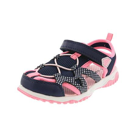 Girls Navy Sandals (Carter'S Zyntec Navy Ankle-High Nylon Athletic Sandal -)