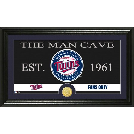 The Highland Mint MLB Man Cave Bronze Coin Panoramic Photo Mint, Minnesota Twins by