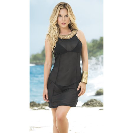 0951224b84 Sheer Glitter Top Beach Dress, Sheer Beach Cover-up