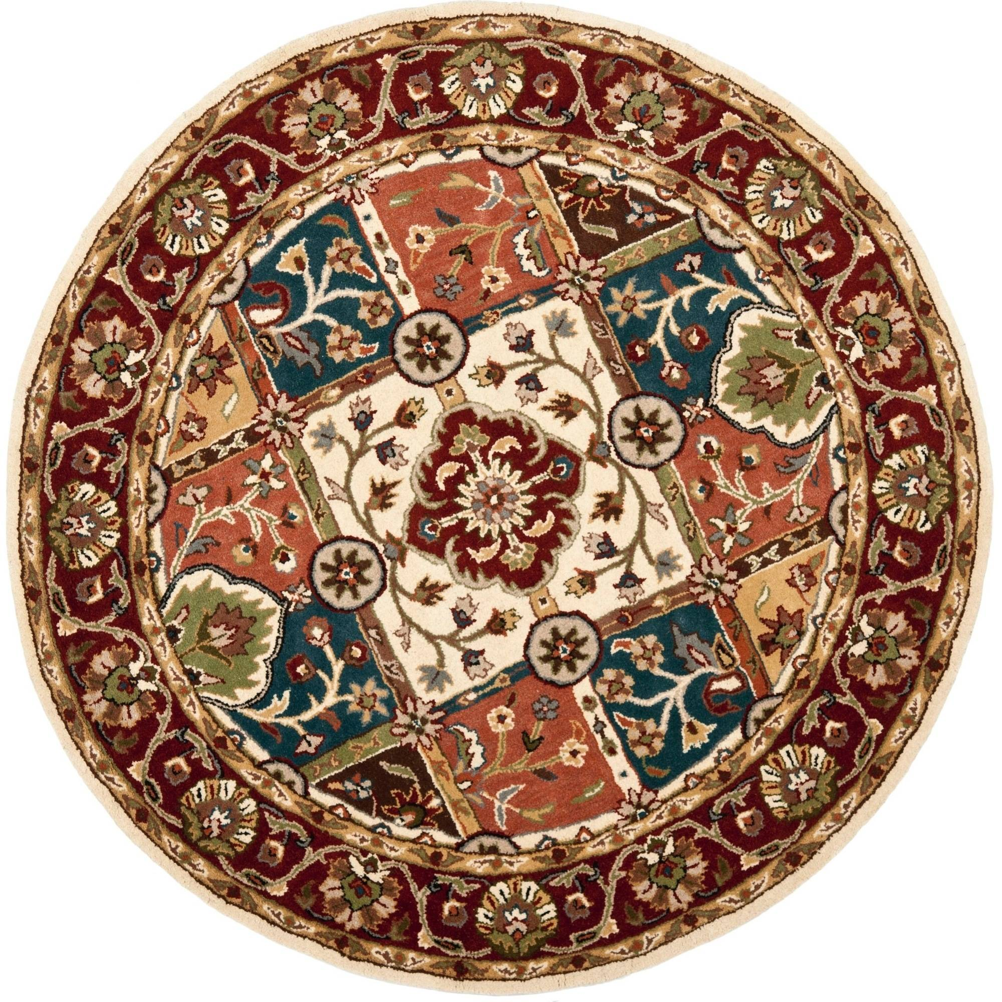 Safavieh Heritage Edin Hand - Tufted Wool Area Rug, Multi / Red