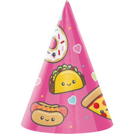 Creative Converting Food Love Hat Paper Disposable Party Favor Set Of 24