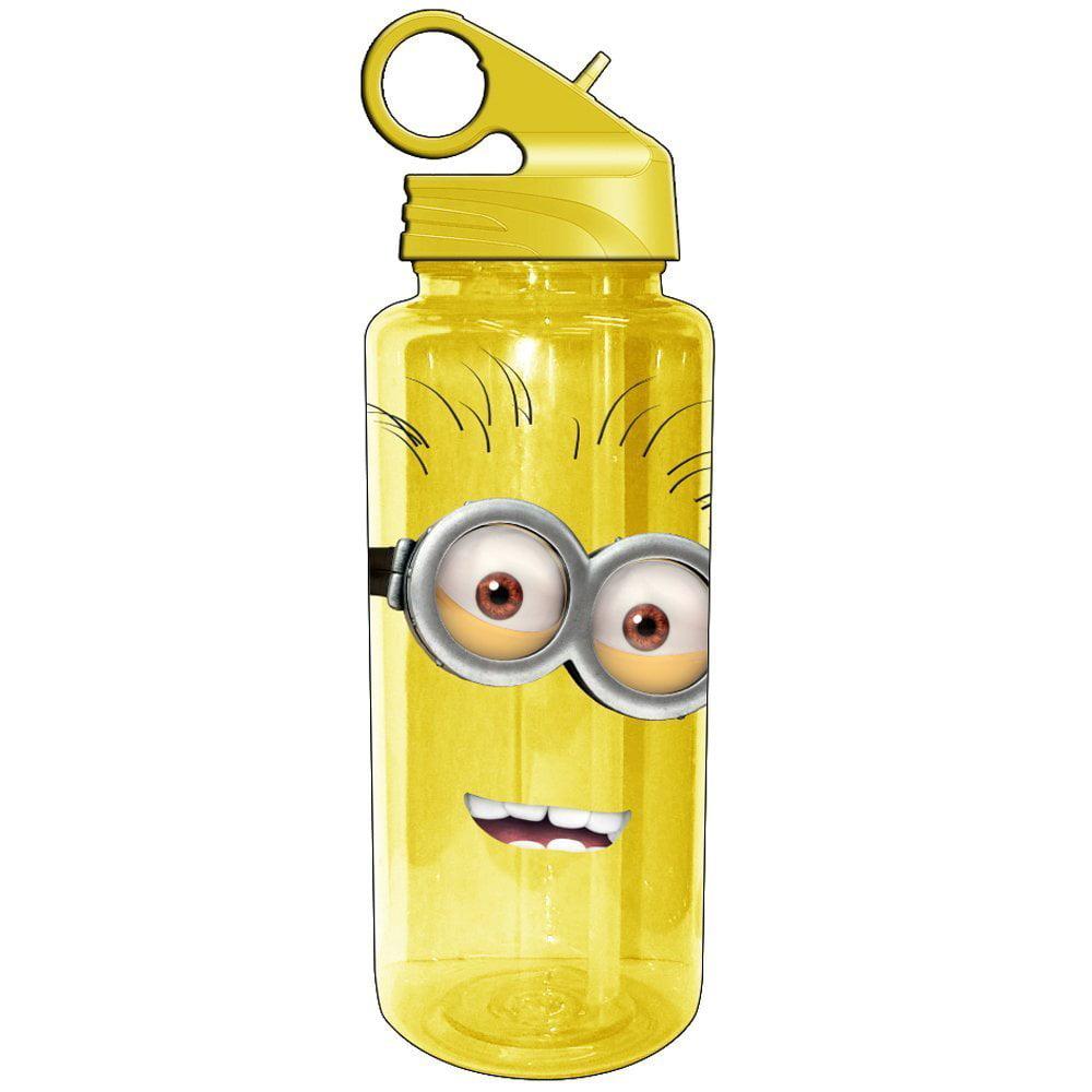 Silver Buffalo DM7564 Universal Despicable Me Two Eyed Minion Tritan Water Bottle, 20-Ounces