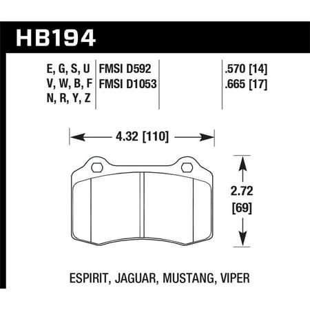 - Hawk 2005-2005 Volvo S40 I HPS 5.0 Rear Brake Pads