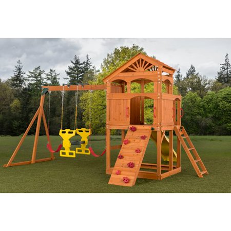 Creative Cedar Designs Timber Valley Wooden Playset Red Accessories