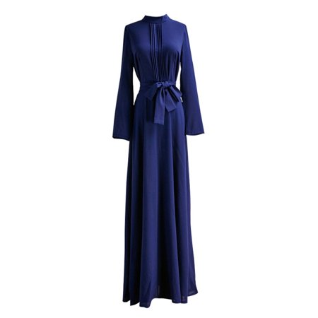 - Sweetsmile Women Vintage Long Sleeve Party Long Maxi Dress Kaftan Abaya Islamic Maxi Dress