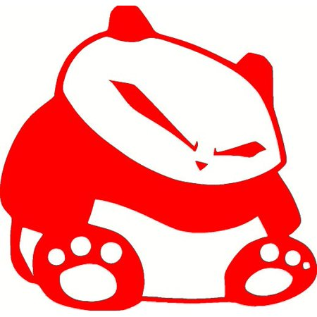(2) RED Fat JDM Panda Vinyl Decal Sticker Car Window Hood Laptop Hoonigan iLL