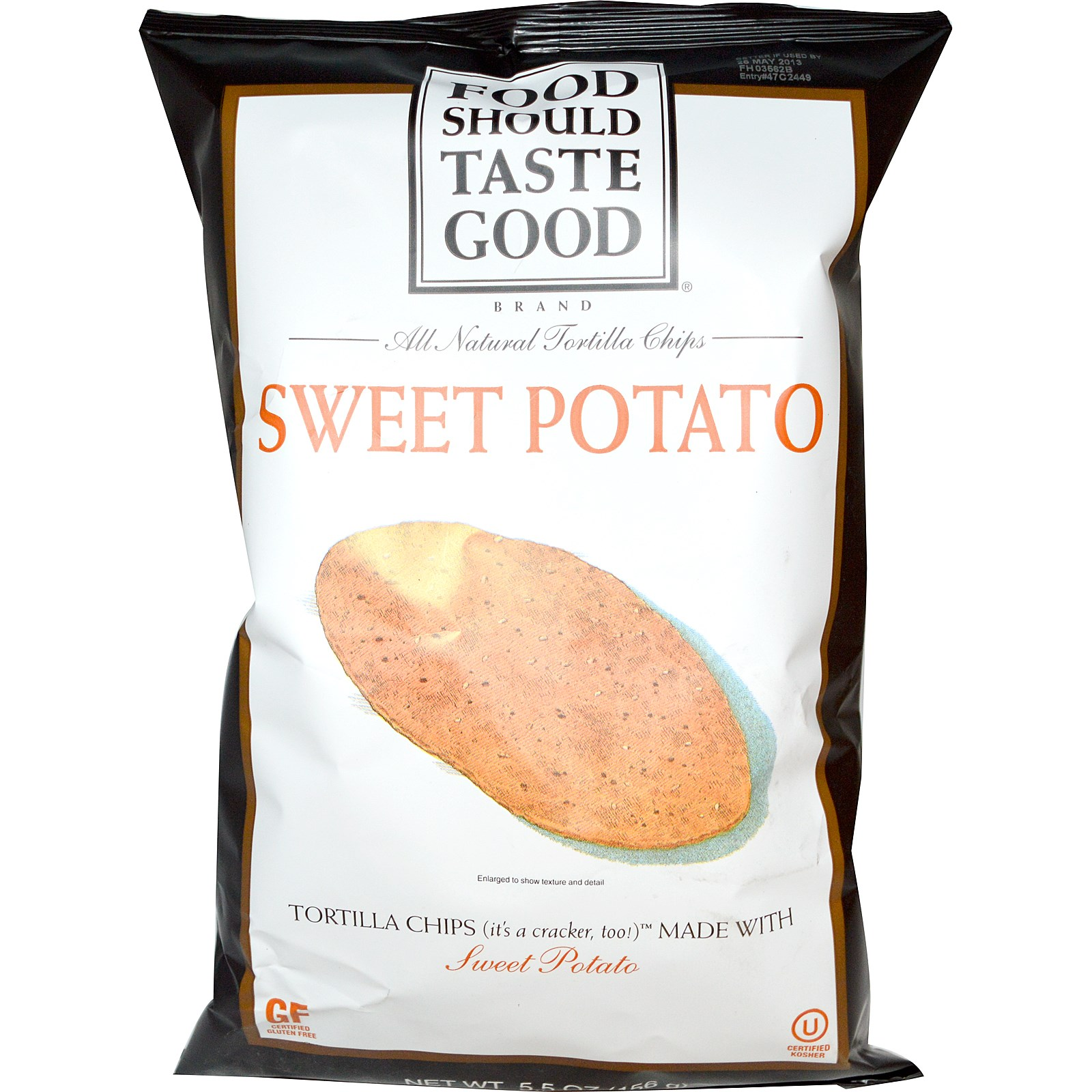 Food Should Taste Good, All Natural Tortilla Chips, Sweet Potato, 5.5 oz (pack of 6)