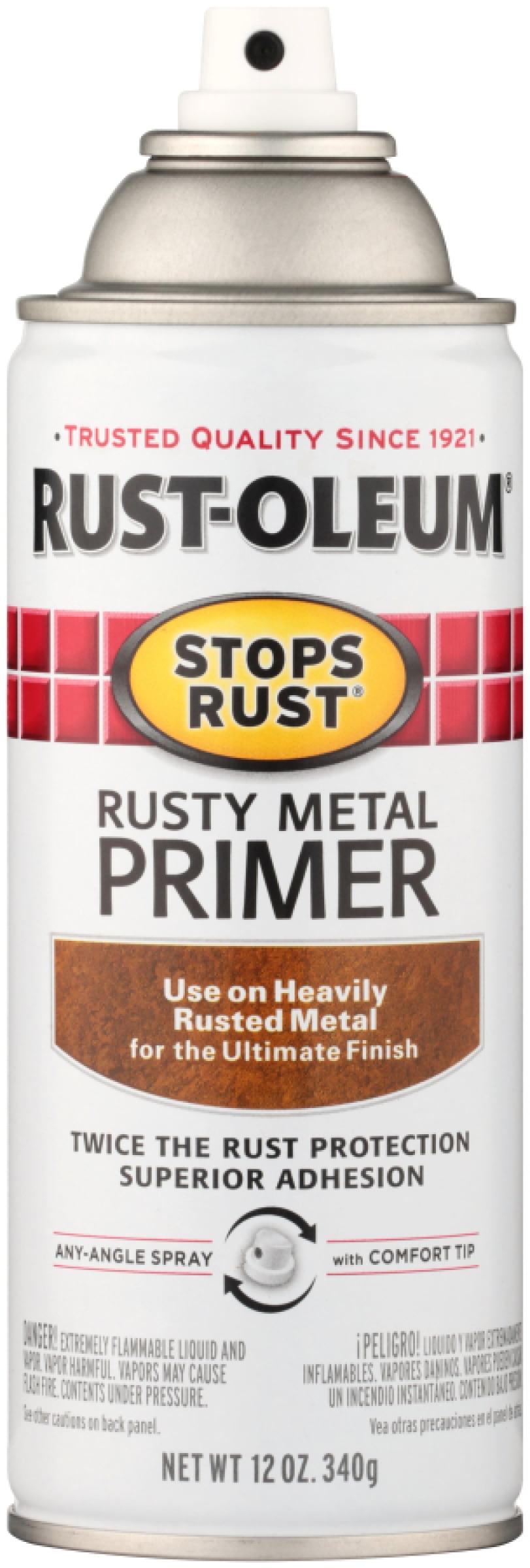 Rust Oleuma Stops Rusta Rusty Metal Primer 12 Oz Aerosol Can Walmart Com Walmart Com