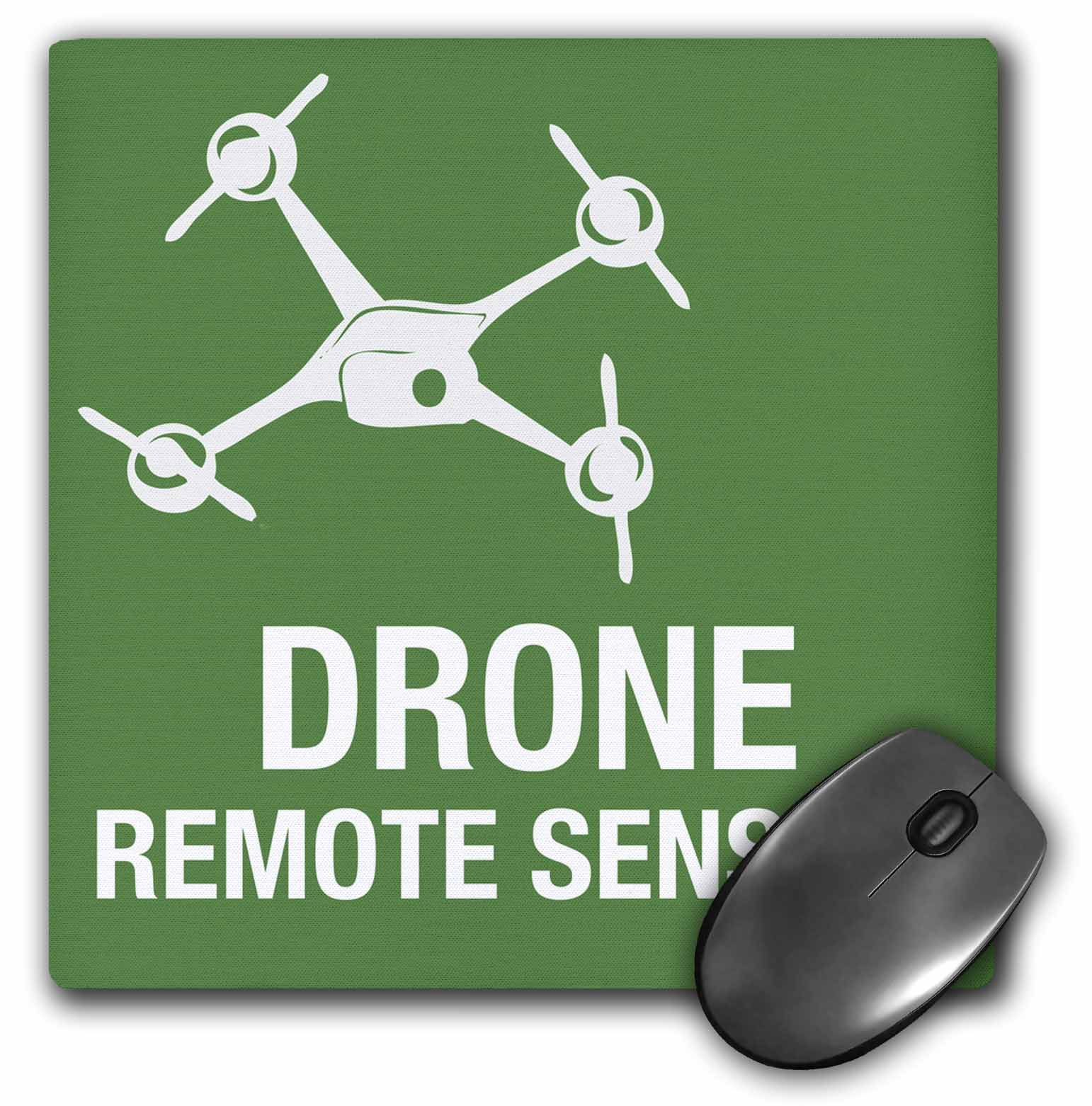Deals 3dRose Big Green Drone flying with Remote Sensing, Mouse Pad, 8 by 8 inches Before Special Offer Ends