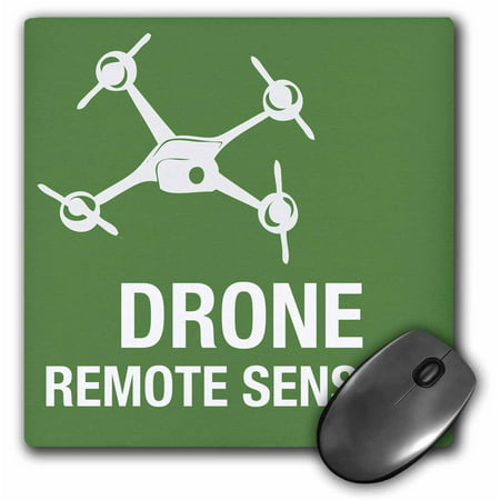 3dRose Big Green Drone flying with Remote Sensing, Mouse Pad, 8 by 8 inches