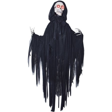 Head Dropping Black Reaper Halloween Decoration - Black Cat Blow Up Halloween Decoration