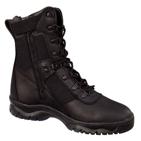 Rothco Forced Entry 5053 Black Tactical Boots for Police, EMS w/Side Zipper