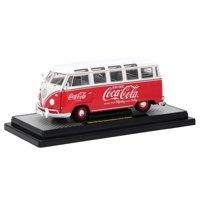 "1960 Volkswagen Microbus Deluxe U.S.A. Model ""Coca-Cola"" Red Ltd Ed 9,600 pcs 1/24 Diecast Model by M2 Machines"