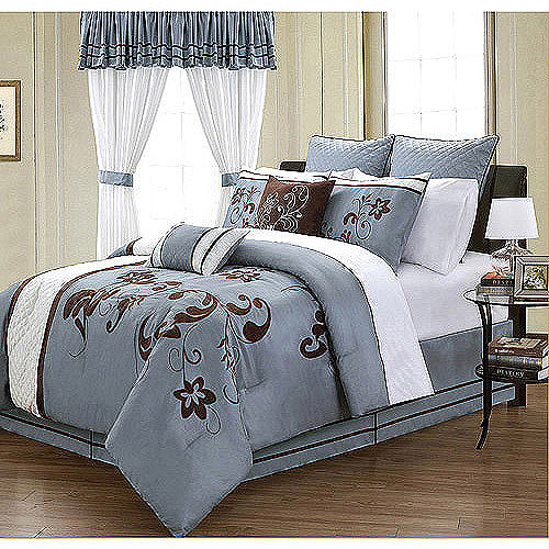EverRouge Voilla 24-Piece Room in a Bag Bedding and Window Treatments Set