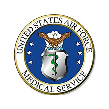 ROUND US Air Force MEDICAL SERVICE Seal Sticker Decal (usaf logo) Size: 4 x 4 inch](Medical Stickers)
