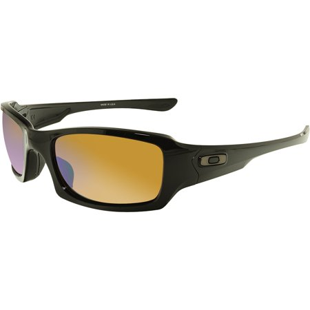 1ee0e18f14 ... Sunglasses Oo9238-18 Black W  UPC 888392225238 product image for Oakley  Fives Squared Polarized Polished Black Prizm Shallow Water Mens