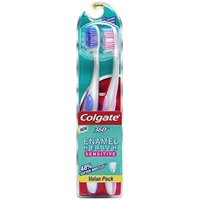 (4 brushes, 2 pack 2) Colgate 360° Enamel Health Extra Soft Toothbrush for Sensitive Teeth - 2 Count