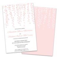 Personalized Weeping Willow Wedding Shower Invitation