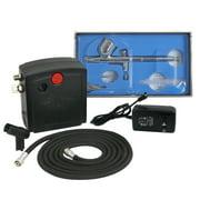 Zeny TC-100 Black Mini Air Compressor Airbrush Kit Airbrush Compressor Kit Dual Action Spray Air Brush Set