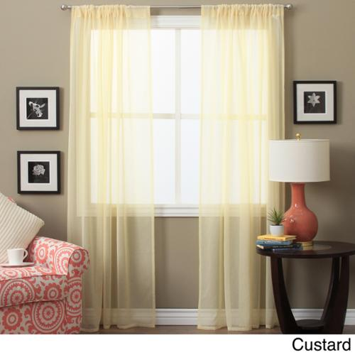Ricardo Lucerne 84-inch Sheer Curtain Pair Panel