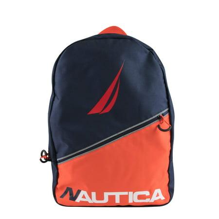 Nautica Kids Diagonal Zip Full Size Backpack Color Block (Nautica Padding)