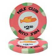 """Roll of 25 $2.50 Nile Club 10 Gram Ceramic Poker Chip"" by BryBelly"