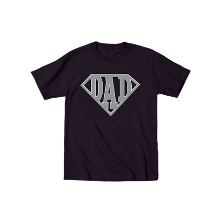 Super Dad Diamond Superhero Daddy Comic Cartoon Father's Day Humor Mens T-Shirt