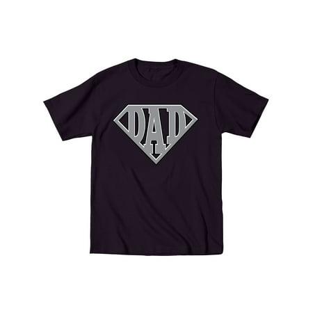 Super Dad Diamond Superhero Daddy Comic Cartoon Father's Day Humor Mens T-Shirt for $<!---->