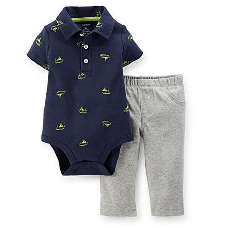 Print Bodysuit Set (Baby Boys' 2 Piece Print Bodysuit Set (Baby) - Sailboats - 3 Months)